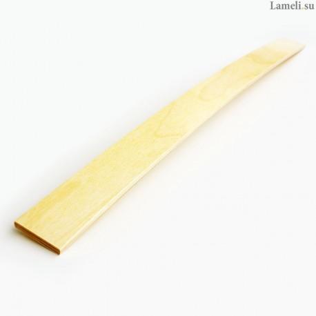Ламель - длиной: 65 см, шириной: 5 см, толщиной: 8 мм