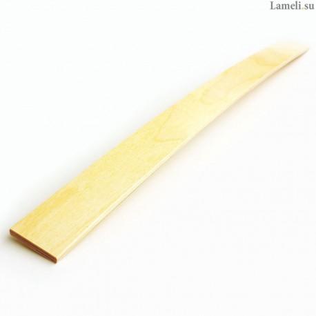 Ламель - длиной: 70 см, шириной: 5 см, толщиной: 8 мм